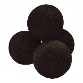 "2"" Regular Sponge Balls by Gosh (Black)"
