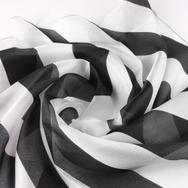 Платок 30x30 Черно-белый