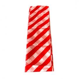 Шарф 65х250 (Красно-белый)