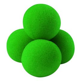 "1.5"" High Density Ultra Soft Sponge Balls by Gosh (Green)"