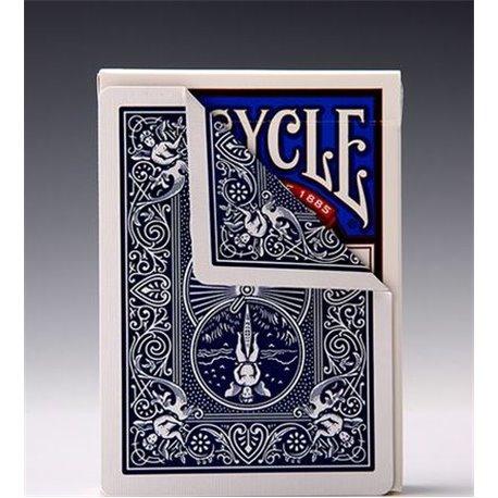 Трюковая колода Bicycle Double Back Blue/Blue
