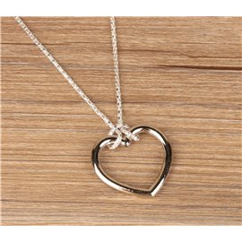 Кольцо (сердце) на цепочке