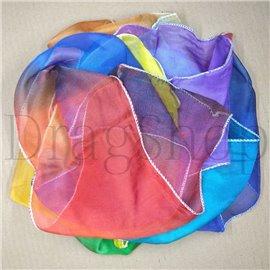 Радужный шелковый шарф 5,4 м*13 см