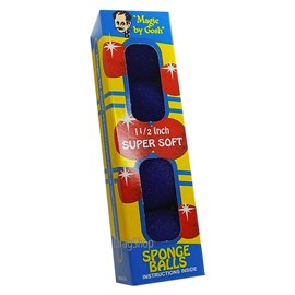 "1.5"" Super Soft Sponge Balls by Gosh (Blue)"