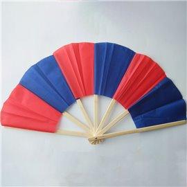 Бамбуковый сломанный веер (красно-синий) Broken fan bamboo
