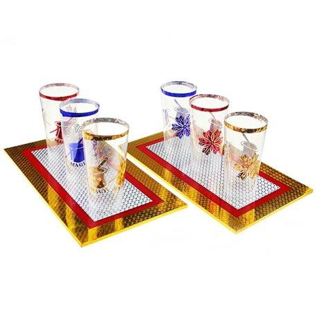 6 cтаканов из подносов (6 cups from 2 boards)
