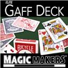 Elite Gaff Blue Deck (Red Tuck Case) by Magic Makers