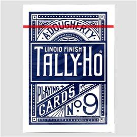 Thin Crushed Tally-Ho Circle Back Blue