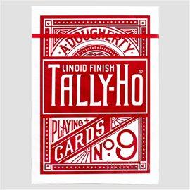 Thin Crushed Tally-Ho Circle Back Red