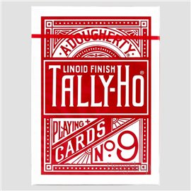 Thin Crushed Tally-Ho Fan Back Red